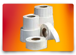 collection of blank label rolls